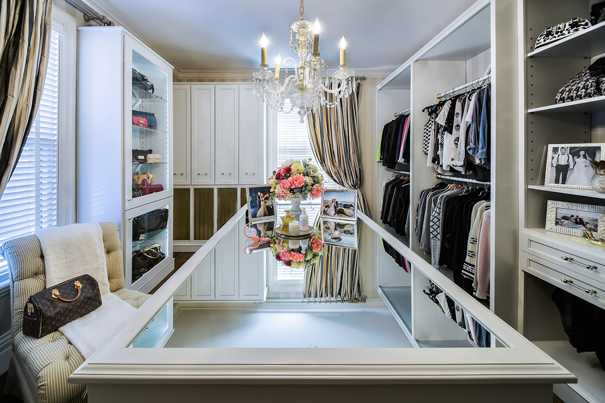 Custom Designed Walk in Closet